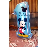 Balloons 5pcs balloon mickey minnie birthday decoration number 1