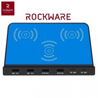 ROCKWARE 819 - 4 USB and 2 PD Port with Qi Wireless Charging - 120W