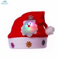 HD Topi Santa Claus Natal dengan Lampu LED untuk Anak / Dewasa
