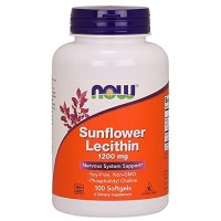 Now Foods - Sunflower Lecithin 1200 Mg. 100 Softgels