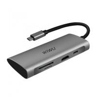 WIWU ALPHA A731HP - 7-in-1 USB Type-C Multifunction Converter Adapter