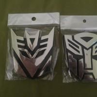 emblem transformers autobot decepticon timbul last stok