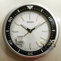 Jam Dinding SEIKO QXA723S Glow in the dark Jarum Sweep 35cm