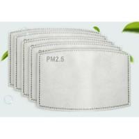 Refill 10pcs Filter PM 2.5 5 lapis Masker setara N95 Dr Mask not Bowin
