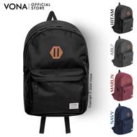 Backpack VONA Andro Tas Punggung Daypack Biru Navy Hitam Cokelat Marun