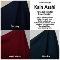 Kain Asahi Polos ( Biru, Hijau, Merah ) Lebar 115 cm