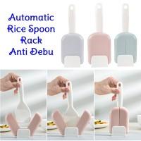 Automatic Rice Spoon Rack Holder Centong Sendok Nasi Anti Debu Cooker
