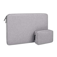 Tas Laptop Softcase Waterproof Nylon High Quality 14 15 inch - grey