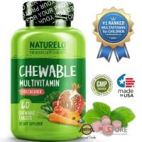 NATURELO - #1 Ranked - Chewable Multivitamin for Children - 60 tablets