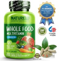 NATURELO - #1 Ranked - Whole Food Multivitamin for Men 50+ - 120caps