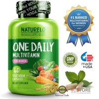 NATURELO - #1 Ranked - One Daily Multivitamin for Women - 60 capsules
