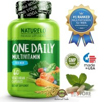NATURELO - #1 Ranked - One Daily Multivitamin for Men - 60 capsules