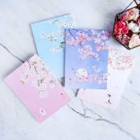 Dear Cherry Blossom Plain Notepad A6 / Buku Catatan A6 / Buku Tulis A6