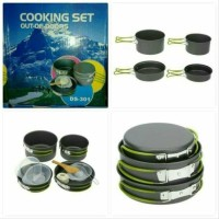 Nasting Cooking set panci teflon alat masak hiking outdoor DS 300