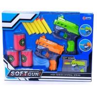 Mainan Mirip Nerf Soft Gun Competition Fire Dart Blasting Dual Pistol