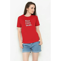 Hate Less Love More Women Tshirt