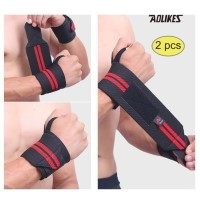 Aolikes 1538 Wrist Support Band Weightlifting - Strap Gym RED
