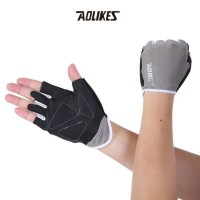 Aolikes A104 Half Finger Weightlifting Gym Fitness Glove GRAY