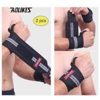Aolikes 1538 Wrist Support Band Weightlifting - Strap Gym GRAY