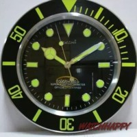 Jam Dinding ORIGINAL 35 Cm Rolex Diver SEIKO MOVEMENT Best Seller AWET