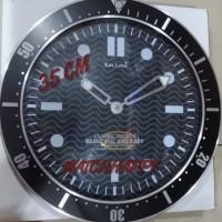 Jam Dinding ORIGINAL Alumunium Omega Diver SEIKO MOVEMENT Best Seller