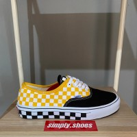VANS AUTHENTIC SUN FLOWER CHEKERBORD PREMIUM HIGH QUALITY WAFFLE DT