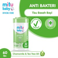 Mitu Baby Wipes Antiseptic Oval [Bottle 60'S]