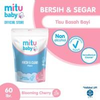 Mitu Baby Wipes Fresh n Clean Pink [Refill 60'S]