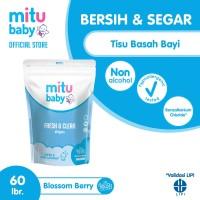 Mitu Baby Wipes Fresh n Clean Blue [Refill 60'S]