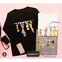 Tumblr Tee/Shirt/Kaos Wanita Lengan Panjang MICKEY & FRIENDS