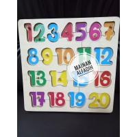 Mainan Edukasi Puzzle Angka Knop Warna Warni Besar