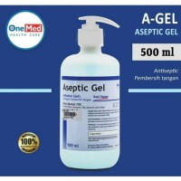 Aseptic Gel Hand Sanitizer OneMed Pump 500ML Original 100%