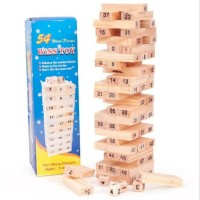 Mainan Edukasi Anak dan Dewasa Balok Kayu Wiss Toy Seperti Uno Stacko