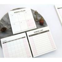 Memo Checklist, Weekly Planner, Monthly Planner