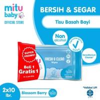 Mitu Baby Wipes Fresh N Clean Blue 10'S