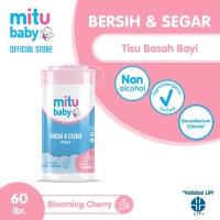 Mitu Baby Wipes Fresh n Clean Pink [Bottle 60'S]