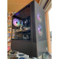 Casing pc cube gaming KARVIA 3 rainbow fan ATX mid tower