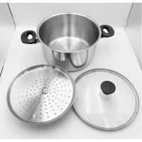 Panci kukus stainless steel 24 cm / Dutch Oven 24 cm stainless inocook
