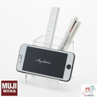 Muji Acrylic Smartphone Stand SMALL - tempat pensil / desk organizer
