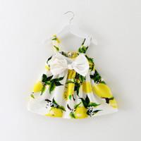 Dress anak perempuan motif bunga pitta dada best seller - Kuning, 3-4 tahun