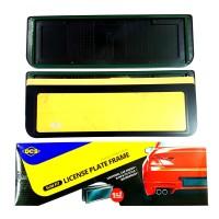 Dudukan Tatakan Plat Nomor Mobil 46cm DCS Slim Mika Acrylic 1pcs
