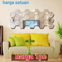 sticker cermin tebal size XL stiker dinding wall kaca rias mirror