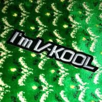 Sticker Mobil Timbul Im VKool V-kool V Kool Stiker Kaca Film