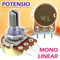 Potensio Mono Lin Potensiometer 1K 2K 5K 10K 20K 50K 100K 250K 500K 1M