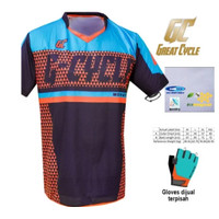 JERSEY SEPEDA GC MOTIVATED BLUE ORANGE DH SS