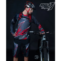 Jersey sepeda STR Carbon Double-V-Neck CoolTech Waffle 100% serap