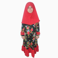 Long Dress Gamis Maxi Hijab perempuan 8 - 12 tahun - Jfashion Enola