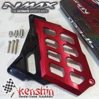 NEW Cover Radiator Aluminium CnC MURAH - YAMAHA NMAX - Merah
