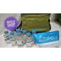 Cooler Bag BKA / Tas ASI - Hijau (Free 8 Botol & 1 Ice Pack Gel 420gr)