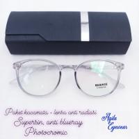 Frame kacamata lentur + lensa anti radiasi 131 - Supersine
